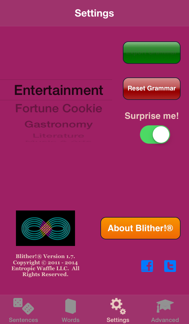 Blither! - Settings - Export