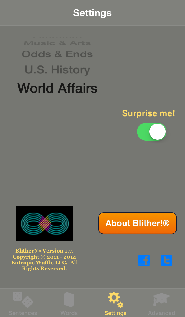 Blither! - Settings - World Affairs